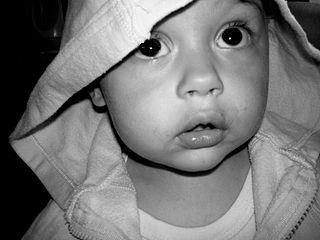 B&W photograph of child