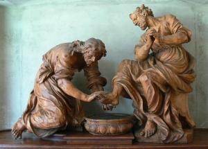 Christus wäscht dem heiligen Petrus die Füße